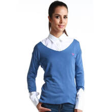 Fredperry Women -Dark Blue Round Neck Sweatshirt L