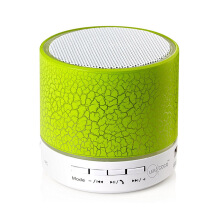 Vinmori Mini Wireless Portable Bluetooth Speaker With LED and Build-in Mic Support AUX TF for iPhone iPod and Android System Green