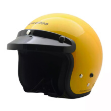 CARGLOSS CF Retro Army Retro Helm Half Face - Exotic Yellow