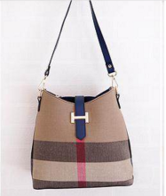 Ins D-131 Lady's bag-Brown&Blue