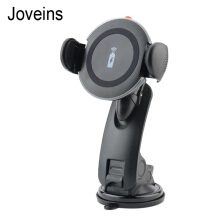 Joveins 2in1 Car Mount Holder Qi Note5 S6 S7 edge Charging Pad Phone for iPhone 8 X+ Wireless Charger for Samsung S6 S7 S8 Black