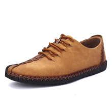 Men's Hand Stitching Soft Sole Casual Lace Up Oxfords Shoes