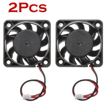 BESSKY 2Pcs 12V Mini Cooling Computer Fan - Small 40mm x 10mm DC Brushless 2-pin_ Black
