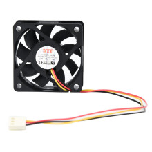 BESSKY LYF DC 12V 3Pin 60X60*15mm PC CPU Case Cooling Fan Big Airflow Heatsink_ Black
