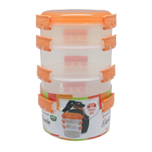 TECHNOPLAST Genio Round Sealware Stackable S1M3 Orange