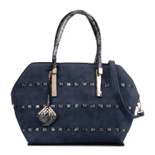 HUER Mimi Stitching Tote bag - Navy