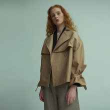 Shop At Velvet Dom Utility Jacket  - Beige [All Size]