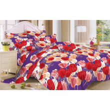 NYENYAK Spring Tulips Purple Fitted Sheet / Comforter - King / Queen
