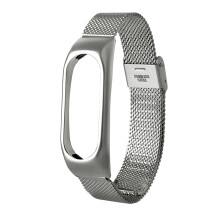 Stainless Steel Wristband for Xiaomi Mi Band 2 Silver