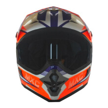 CARGLOSS MXC Pro Racing Helm Motocross - Orange SP Whity White