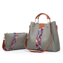 AOSEN Litchi Grain Ribbon Iron Hand Mother-Child Package Bags
