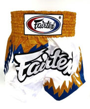 FAIRTEX Boxing Short BS0623 - Gold and Blue Flame