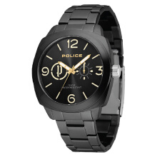 Police Context Black Dial Ion Plated Case Stainless Steel Strap [PL.14717JSB/02MA]