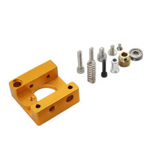 [kingstore]MK8 Extruder Aluminum Alloy Block 3D Printer Professional Short Hand DIY Kit Yellow Yellow & Silver