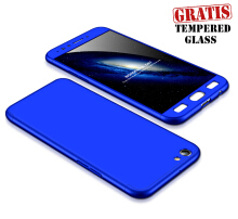 WEIKA Armor Full Cover Baby Skin Hard Case for OPPO F3 Gratis Tempered Glass