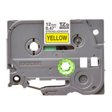 BROTHER Label Tape TZE-S631 12MM Strong Adhessive Black on Yellow