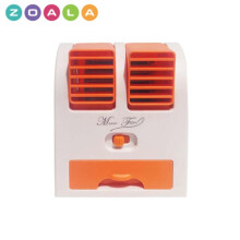 ZOALA AC Duduk Mini Portable - Double Blower Mini AC - Kipas Angin Travel - Orange-MF-BP-OR