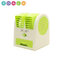 ZOALA AC Duduk Mini Portable - Double Blower Mini AC - Kipas Angin Travel - Hijau-MF-BP-GR
