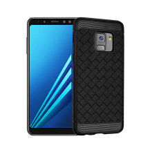 Smatton case hp Samsung Galaxy A8 Plus Case Super Soft Phone Case Luxury Grid Weaving Cases For iPhone 8 Cover Silicone Accessor