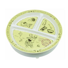 Sugar Boogar Spill Proof Baby Plate Divided Suction Plate Children - Multicolor