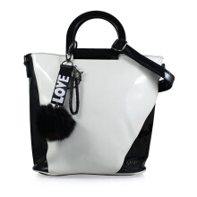 Bellagio Poppy-898 Two Tone Hand Bag Black
