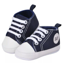 Saneoo Sneakers Prewalker Baby Shoes Navy 3-6 bulan