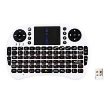 M2S Mini 2.4GHz Wireless QWERTY Keyboard Touchpad with USB Receiver White
