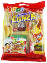 YUPI Gummy Lunch Hanging Bag 95gr