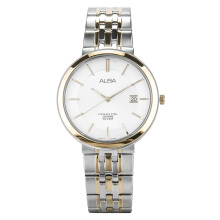 Alba Man White Dial Sapphire Crystal Dual-tone Stainless Steel Watch [AS9D76X1] Silver