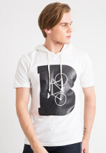 One Hours Font B T-Shirt Hoodie - White