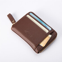 BESSKY Leather Men Business Wallet Vintage Purse High Quality ID Credit Card Pockets_