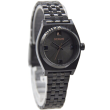 Nixon Stainless Steel Chain Ladies A3992525-2325D25HTM Analog Hitam Black