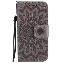 Sannic Apple iPhone 7 Plus/8 Plus Sun Flower PU Leather Casing Wallet Flip Phone Case Coque Stand Magnetic Skin Back Cover