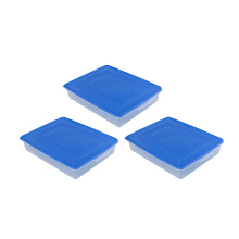 PLASTIK ONE Donutpack (L) - DP-0007 (Biru) Set of 3