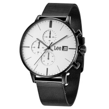 Lee Watch Jam Tangan Pria Lee Metropolitan Gents Tali Pasir Hitam M114DBDB-7B Black