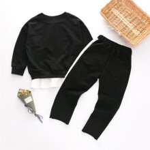 BESSKY Toddler Baby Kids Girls Outfits Clothes Embroidery T-shirt Pullovers+Pants Set_