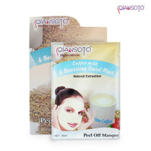 Masker Qiansoto Coffee Milk and Nourishing Facial Mask 6 sachet Net (6 x 35 ml)