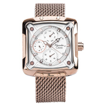 Alexandre Christie AC 3030 BF BRGSL Ladies White Dial Stainless Steel [ACF-3030-BFBRGSL] Rose Gold