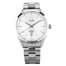 Alba Man White Dial Stainless Steel Watch [AS9D35X1] Silver