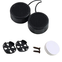 BESSKY 2 x 500 Watts Super Power Loud Dome Tweeter Speakers for Car 500W_ Black