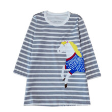 BESSKY Toddler Baby Girl Kid Cartoon Horse Print Embroidery Princess Party Dress _