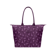 Lipault Lady Plume Tote Bag M Eiffel Tower Purple