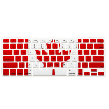 BESSKY Silicone Rubber Keyboard Skin for Macbook & Macbook Pro 13/15/17 inch  Canada Flag_ Multicolor