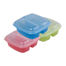 SKATER Bento Lunch Box 800ml Set of 3 - Red Green Yellow