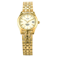 Alba Ladies White Dial Gold Case Gold Stainless Steel Strap [AXT850X1]