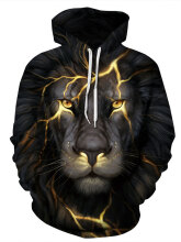 Men's Hoodie Animal Pattern Personality Long Sleeve Fashion Hoodie