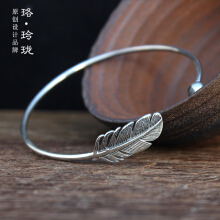 Luo Ling Long Silver Thai silver feather bracelet