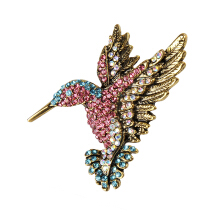 Colorful Rhinestone Hummingbird Brooch Animal Brooches for Women Multicolor