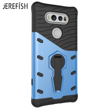 JEREFIHS LG V20 Case Multi-Layer Hybrid Protective Case with 360 Degree Rotating Stand for LG V20 Cover