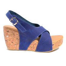 Dr. Kevin Women Wedges Sandals 26128 - Blue